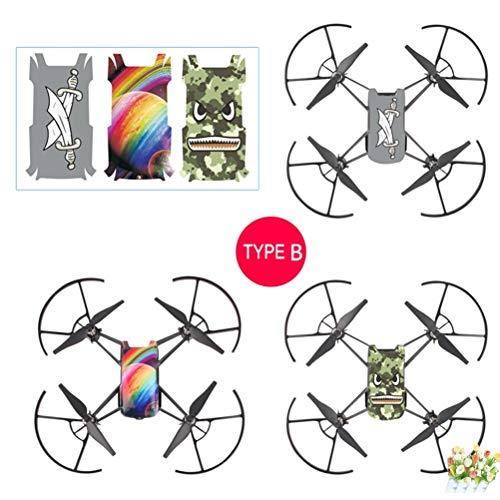 Drone Boxes - 3pcs Set Sticker Cool Waterproof Pvc Stickers Body Decals Drone - Sticker Drone Tello Dron With Mavic Quadcopter Tello Jy019 Boxes Tello Micro Drone 4k Gps Drone (Body Bag Prop)