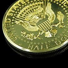 Juegos de Primer Plano de Calle Magia con Monedas Truco Llusión Dólar Oro