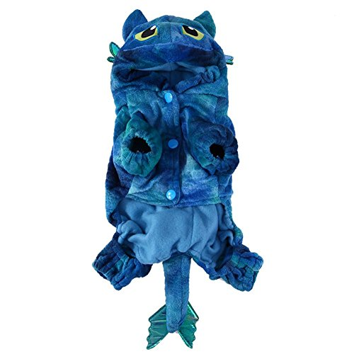 hongxyunf Charmantes Haustier Hund Katze Warme Koralle Samt Kostüme Fliege Drache Kostüm Halloween
