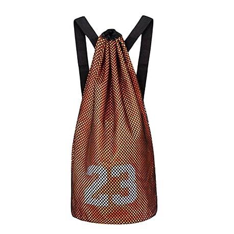 Black Temptation Mochila de Entrenamiento Baloncesto Volleyball Soccer Pocket Organizador de Deporte al Aire Libre Bag Orange