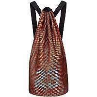 Mochila de entrenamiento Baloncesto Volleyball Soccer Pocket organizador de deporte al aire libre Bag-Orange
