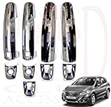 #7: RedClub Prius/ Galio Car Door Handle Catch Covers (Chrome)[Made in India] for Maruti Suzuki S Cross with FREE pair of blind spot mirrors and Complimentary RedClub Pen