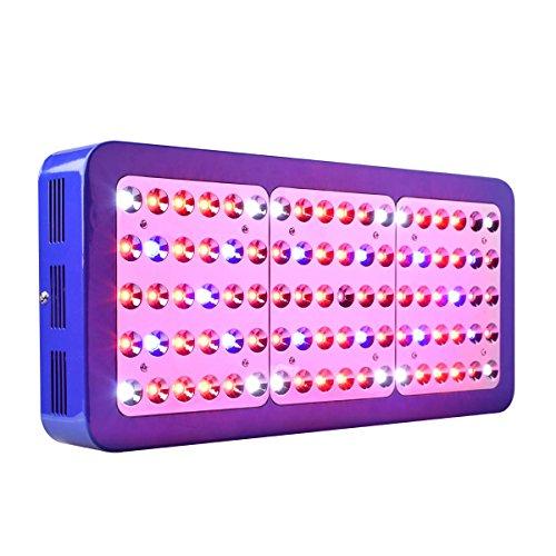 CrxSunny Reflector 900W Dual Chips LED Grow Light LED Pflanzenlampe Full Spectrum wachsen für Zimmerpflanzen Gemüse und Blumen (10W LEDs)