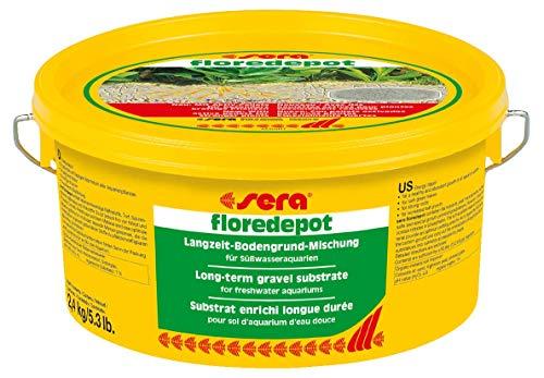 sera 03375 floredepot 2,4 kg (für ca. 60 Liter)- Nährbodensubstrat bei der Neureinrichtung von Aquarien - Eine gute Basis für erfolgreiche Pflanzenpflege