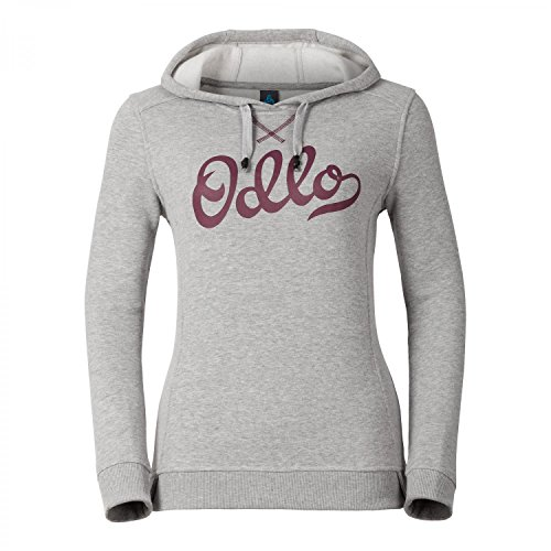 Odlo Damen Sweatshirt Kapuzenshirt Hoody Midlayer Ski Pullover 292721, Farbe:Grau;Größe:L;Artikel:292721-70444 camouflage grey mel.
