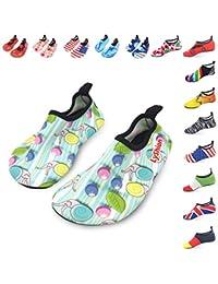 LYSHION Zapatos de Agua Descalzo para Hombre Mujer Niños Secado Rápido  Ultra Ligero Transpirable Aqua Calcetines para Playa Yoga… 309d1d7c354