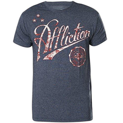 Affliction T-Shirt Icon Sport Blau, XXXL - Affliction T-shirt Aus Baumwolle