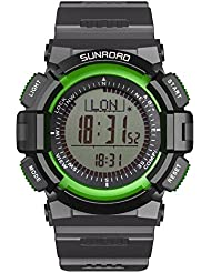 Sunroad® FR822A pesca reloj para la práctica de deportes de los relojes digitales podómetro reloj de las mujeres hombres nueva llegada verde