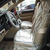 JUEYAN 100x Protector de Plástico Desechable para Asientos de Automóviles para Servicio de Reparación