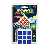 #9: 2 in 1 Magic Cube 3x3x3 Sticker-less Rubik's Cube Puzzle (1Big+1 Small)