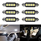 Ralbay 6 x Ultra White 41mm 42mm Festoon LED Bulbs Error Free 212-2 211 578 Car Interior Light Dome Map Courtesy Lamps DC12V