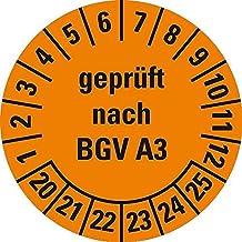 Ø 25 mm BGV Prüfetiketten DGUV Vorschrift 3 Prüfplakette /'19-24 Textfeld rot