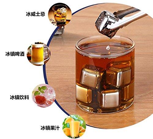 SIKER Whisky Stones-Juego de 8 cubos de hielo reutilizables de refrigeración de...