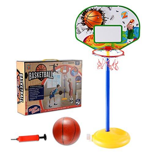 Lommer Basketballkorb Kinder, Einstellbar 68-150CM Basketballkorb mit Ständer Basketballständer Basketball-Backboard Ständer und Hoop Set für Kinder