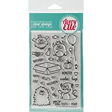 Avery Elle Clear Stamp Set 4X6 Monsters by Avery Elle