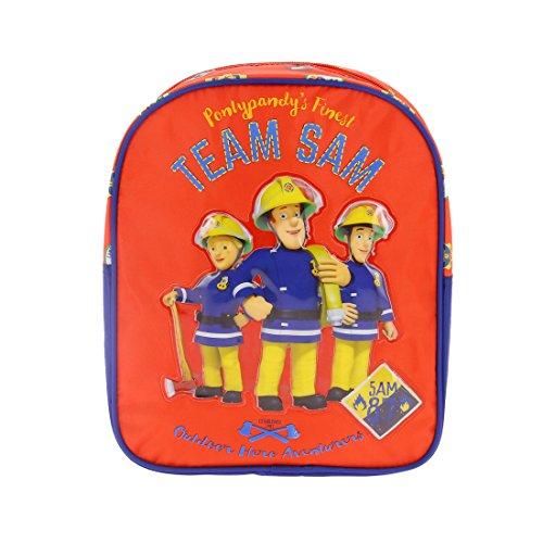 Sam le pompier - Sac à dos Sam le pompier 29cm - Rouge, Taille Unique