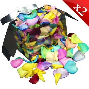 2 Jugs (2 litres) of fresh Happy rose petals perfect for weddings and confetti