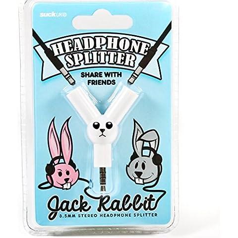 Suck UK SK JACKRABBIT1 Conejo Jack - Divisor de auricular