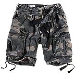 Surplus Herren Airborne Vintage Cargo Shorts, Blackcamo, Gr. XL