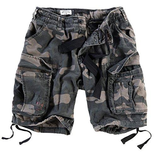 Surplus Herren Airborne Vintage Cargo Shorts, Blackcamo, Gr. M Bdu Woodland Camo