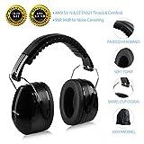 Ear Muffs Headband Mpow Sicherheit Ohrenschützer SNR 34 dB Gehörschutz, ANSI S3.19&CE Zertifiziert, Faltende-gepolsterter Kopfbügel Kapselgehörschützer mit Weichschaum für Erwachsene und Kinder - 2