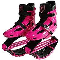 Smx Young/Youth Jumps Girls Zapatos de Fitness Botas de Gravedad Botas de Rebote para niños Rango de Carga de Peso 50-70KG, Rosa