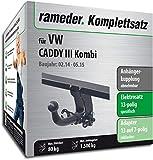 Rameder Komplettsatz, Anhängerkupplung abnehmbar + 13pol Elektrik für VW Caddy III Kombi (123661-05084-1)
