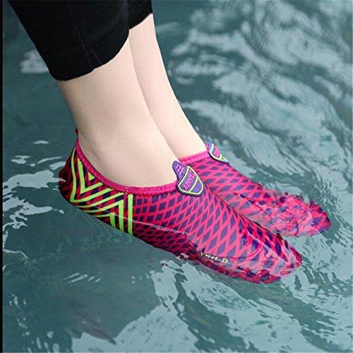 SITAILE Herren Damen Wasserschuhe Surfschuhe Badeschuhe Wasser Strand Pool Tanz Swim Surf Yoga Schuhe Grün
