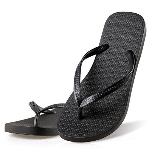 Hotmarzz Chanclas de Verano Mujer Sandalias Tacon de Playa Zapatillas de Casa Pantuflas Size 38 EU/39 CN, Negro