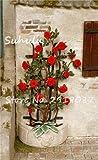 SwansGreen 10 PC Silk Kletterrose Blumensamen Bonsai Efeu-Rebe Hängen Schöne Staude Blumen Garland Dekoration-Partei Haus 14