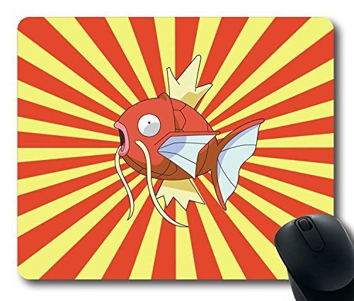 Mauspad Pokemon Schutzschale Hot Magikarp Rutschfeste Neopren-Gummi-Standard, Größe 9 Zoll (220 mm) X 7 Zoll), 180 mm X 1/8 Zoll), Laptop, Desktop-Mousepad (3 mm) Mousepads Bequemes Mauspad