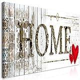 murando Mega XXXL Cuadro Home 160x80 cm - Cuadro Gigante único - Cuadro en Lienzo en Tamano XXL - Cuadro Grande - Decoración de Pared - House Wood m-A-0700-ak-f