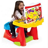 Dolu Childrens Kids Study Work Drawing Painting Desk With Seat And Accessories