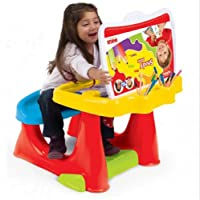 Dolu Childrens Kids Study Work Drawing Painting Desk With Seat And Accessories by Dolu