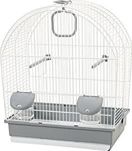 Cage oiseaux Paris Blanc/gris