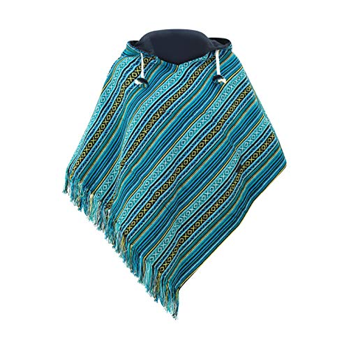 virblatt - Poncho Damen Pullover Ethno Baja Sommer Hippie Kleidung Jacke Alternative - Relaxed gr
