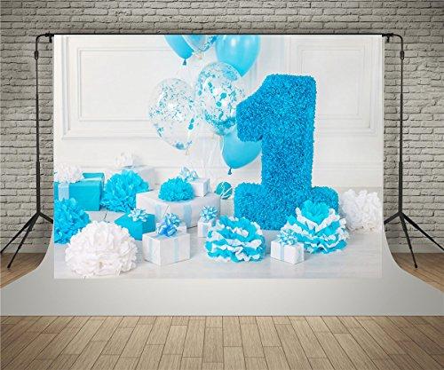 Kate 1 5x2 2m Baumwolle Fotografie Hintergrund 1 Geburtstag Blau