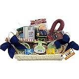 Feuerwehr Geschenk-Korb Präsentkorb (6097) mit Delikatessen und Süßigkeiten, antistress Figur Knautschi SQUEEZIES®