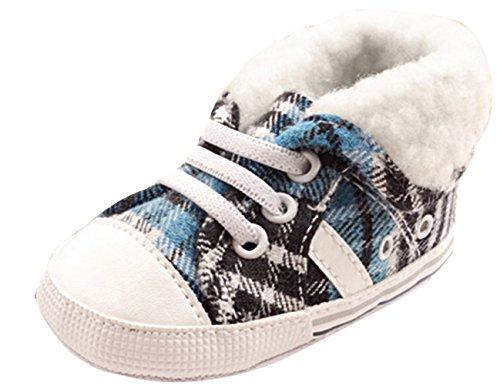 EOZY Enfants Filles Chaud Hiver Chaussures Coton Première Pas Bébé Anti-Dérapant Bottes Carreau