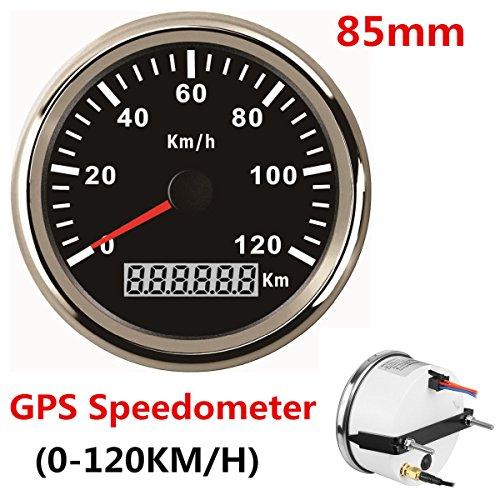 Wasserdicht KM GPS Tacho Kilometerzähler 120km/h für Auto Motorrad Traktor Truck mit Hintergrundbeleuchtung 85mm - Gps-auto-tacho