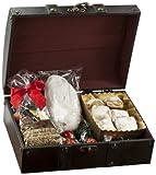 Geschenk Set Adventstruhe aus Holz mit vielen weihnachtlichen Leckereien