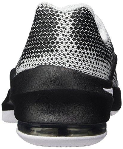 Nike Air Max Infuriate (Gs), Chaussures de Tennis Garçon Blanc Cassé (White / Black / Wolf Grey / Pure Platinum)
