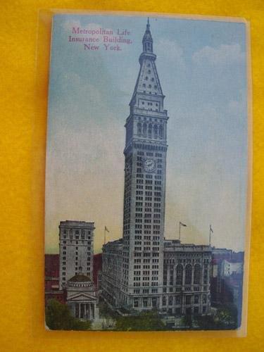 antigua-postal-old-postcard-new-york-metropolitan-life-insurance-buildi