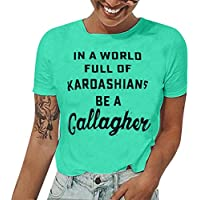 Tosonse Camiseta para Mujer Trabajo Camisetas De Manga Corta Venta Blusa Estampado Cuello Redondo Tanques Camisas tee Túnica