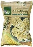 biozentrale Mini-Maiswaffeln Rosmarin, 5er Pack (5 x 50 g)