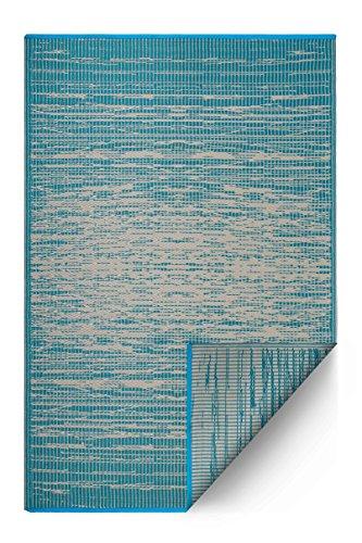 Fab Hab Brooklyn - Teal - Teppich/Matte fŸr den Innen- und Au§enbereich (180 cm x 270 cm) (Teal Jute-teppich)