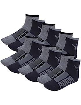 Puma Herren Promo Quarter Socken Wording 12er Pack