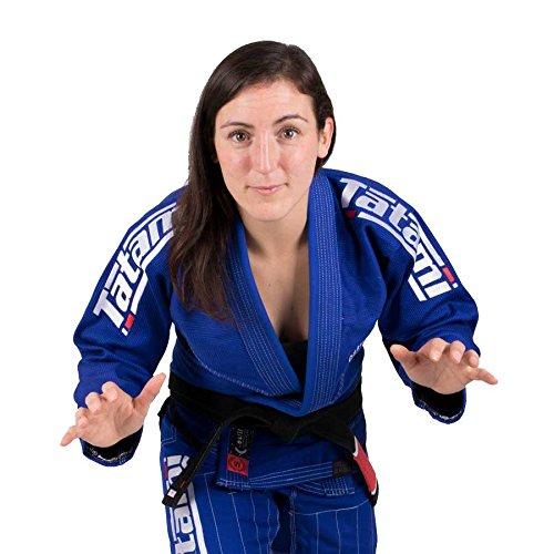 Tatami fightwear donna estilo bjj kimono, donna, estilo6-b&white-f3l, blue and white, size f3l
