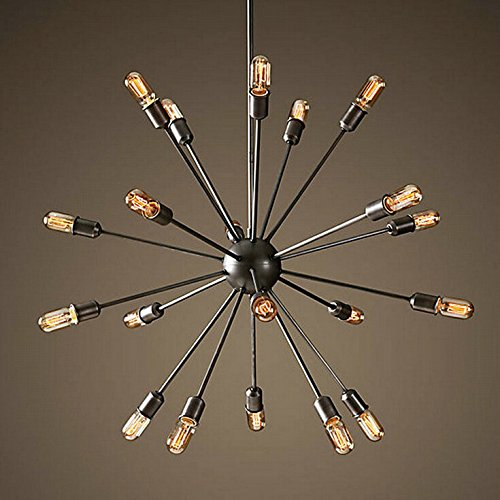 Dekoration Vintage industrial Wind n schmiedeeiserne Leuchter Kronleuchter Dekoration der Bar 18 Satelliten arbeiten Kronleuchter,18 (ohne Licht)