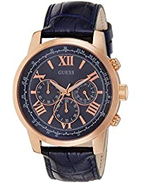 Guess Herren-Armbanduhr XL Chronograph Quarz Leder W0380G5